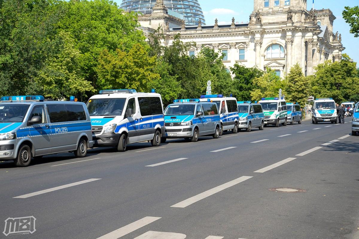Street Blockade Berlin Germany