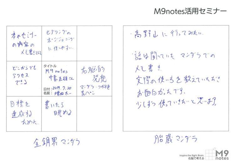 2019.0730 活用セミナー感想文 増田太一さん