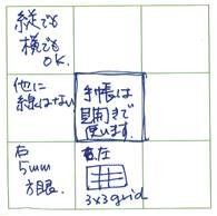 図2 中島正雄氏が書いたM9ノート左ページ