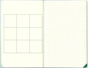 図1 手帳サイズの見開き