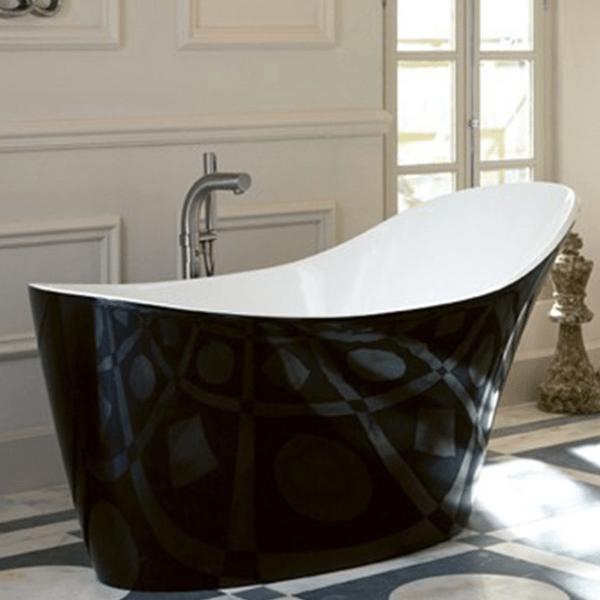 Baignoire Salle De Bain Baignoire Amalfi Noir