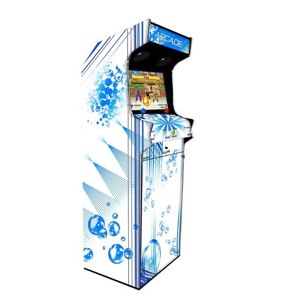 Borne Arcade Classic Profil Gauche Modèle Bubble White ma-borne-arcade.fr