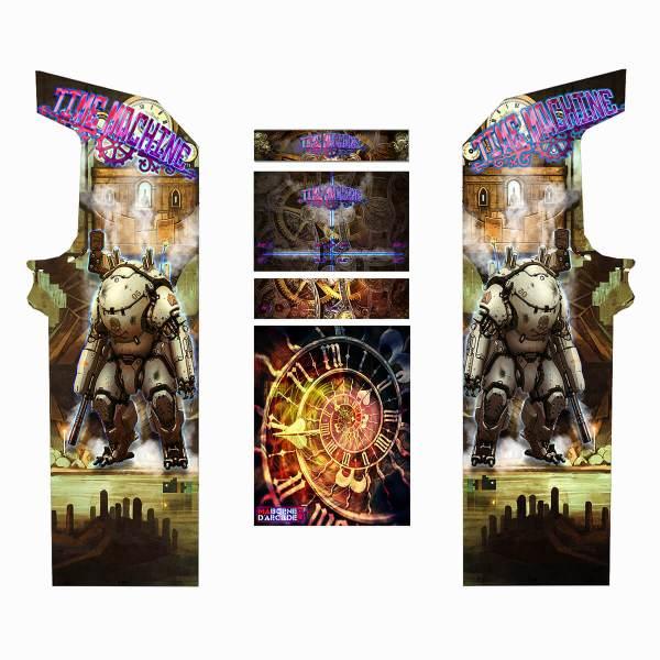 Borne Arcade Classic Planches Modèle Time Machine ma-borne-arcade.fr