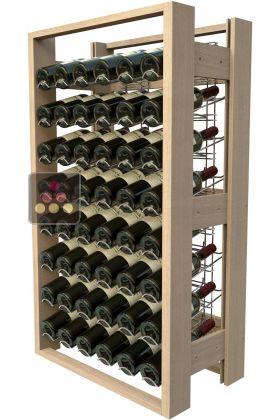 meuble de rangement en bois de 48 bouteilles rangement vin visiorack