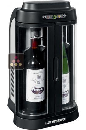 Bar Vin 2 Bouteilles NoirSilver Avec Conservation De