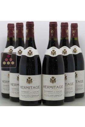 ancien modele lot 6 bouteilles cave de tain 1994 3 hermitage gambert de loche et 3 hermitage grand classique selection vin ma cave a vin
