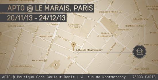 Popup store Apto Paris