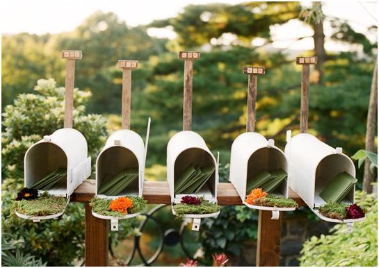 urne de mariage champêtre