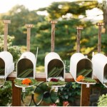 Une urne de mariage champêtre