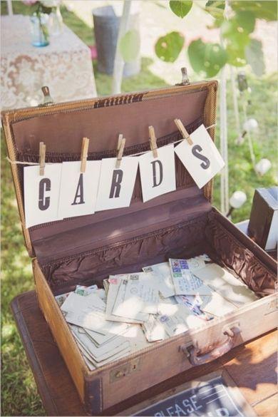 urne de mariage valise