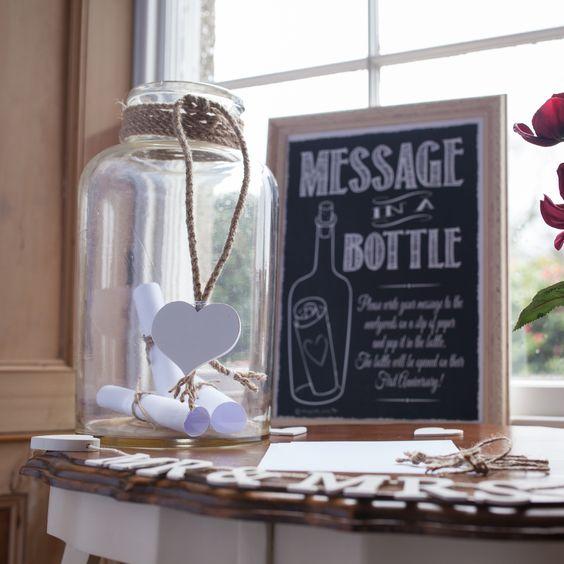 urne de mariage bouteille