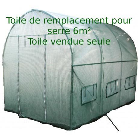 toile de remplacement pour serre tunnel 6m en pe arme 140gr m verte