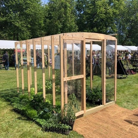 serre de jardin en bois ulysse 6m par helio montage inclus