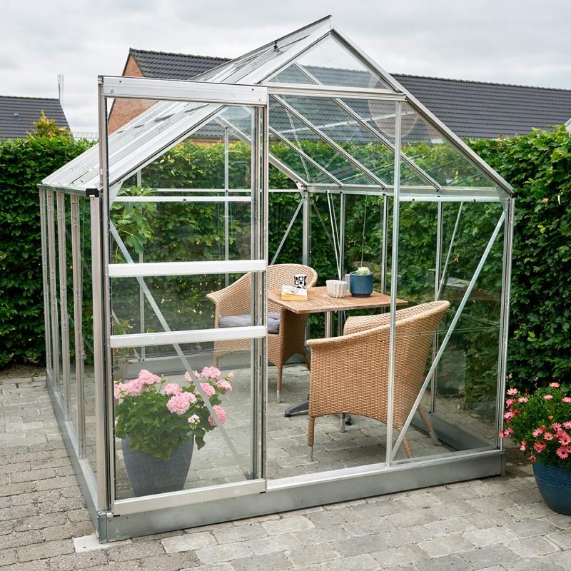 serre de jardin 5m verre horticole