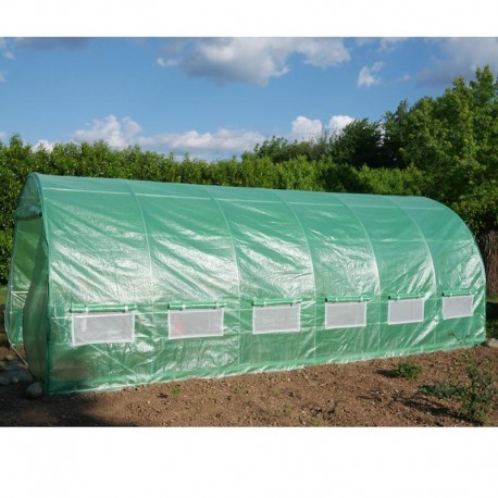 serre tunnel 3x6m film 200gr m hauteur 2 25m green protect
