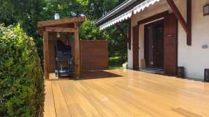 Terrasse en composite couleur bois