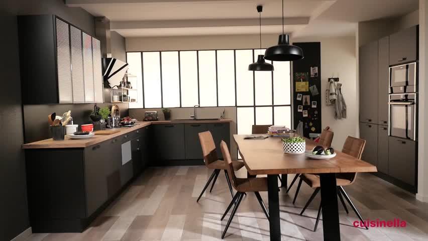 cuisine industrielle bois et metal