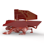 ITALIAN RED MARBLE PANTHER DESIGNER PIANO