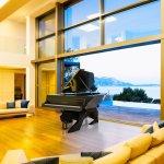 SWAROVSKI CRYSTAL BLACK PANTHER DESIGNER PIANO