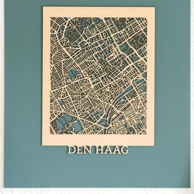 Citymap Den Haag MDF (50x70)