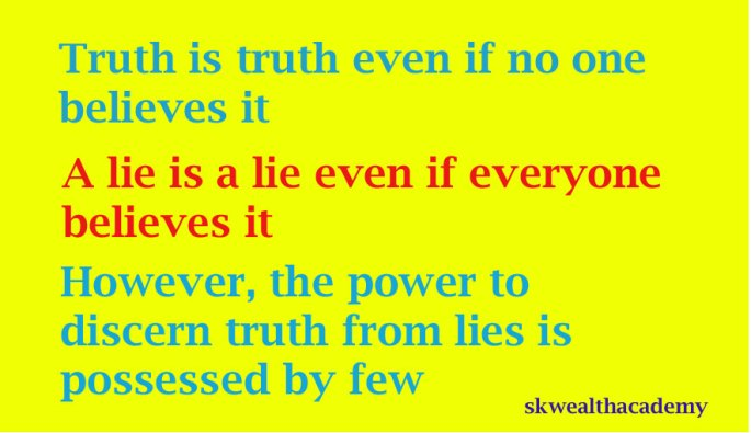 truth versus lies and the power of discernment