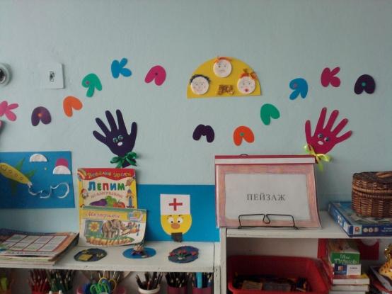 Уголок Рисования В Детском Саду Оформление Фото
