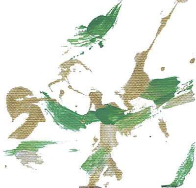 2017-01 Painting by Bongo Bob, Umbrella Cockatoo