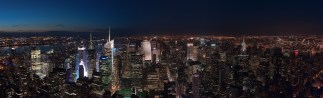 Uptown view of NYC from top of ESB