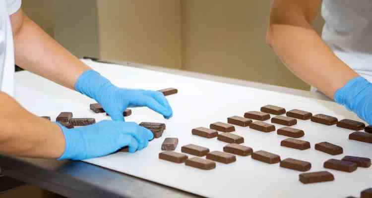 bande transporteuse chocolat - ramassage truffe choco