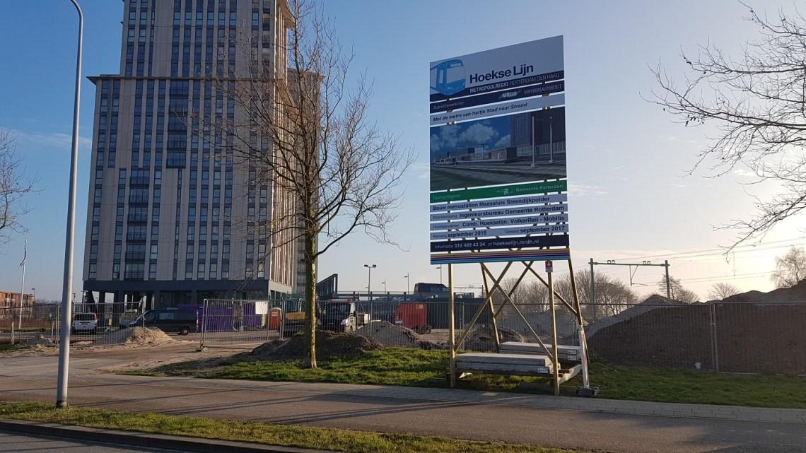© Jelle Ravestein - Bouwterrein voor het Metrostation Steendijkpolder