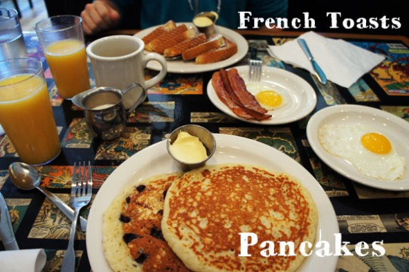 Pancakes and French toasts from Allston Diner