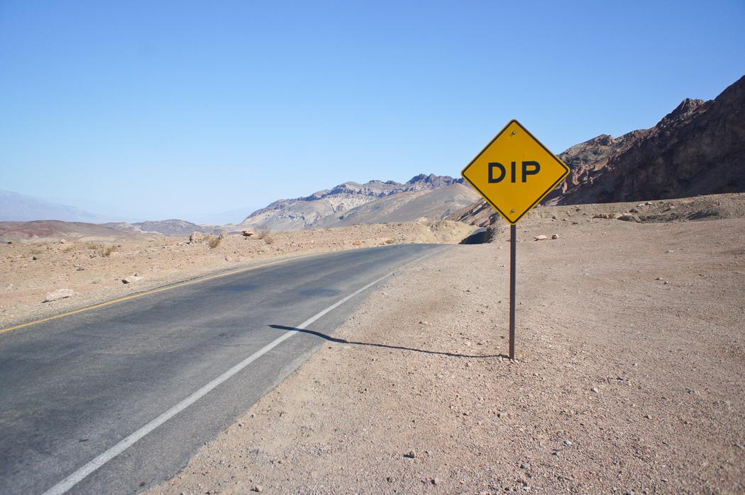 La palette de l'artiste Death Valley Californie Dip