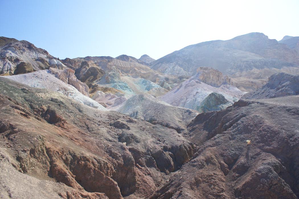 La palette de l'artiste Death Valley Californie
