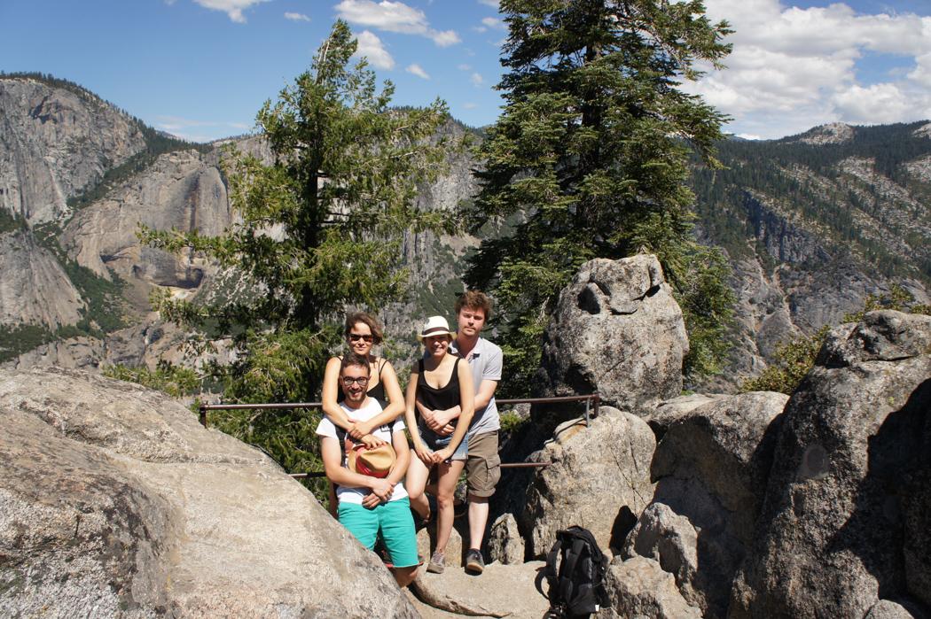 yosemite national park californie randonneurs