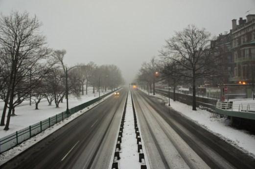 Storrow drive avec neige
