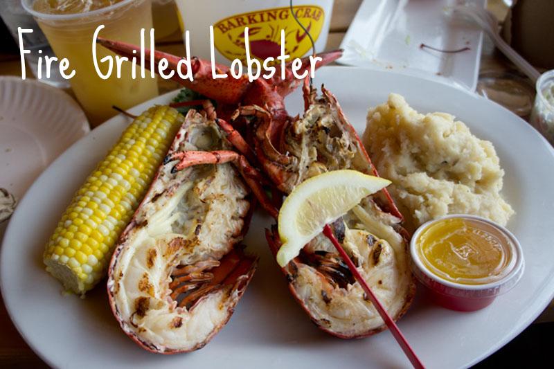 Grilled Lobster Barking Crab Boston