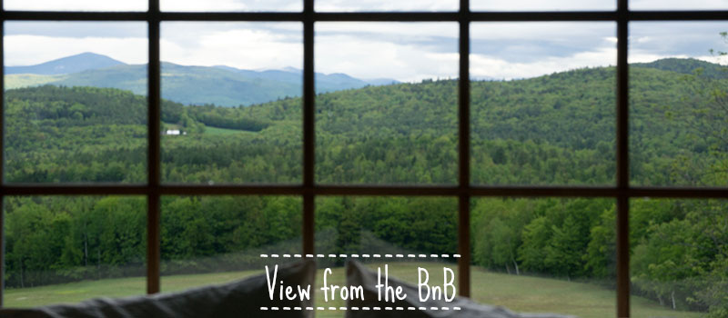 View from the Bnb in New Hampshire