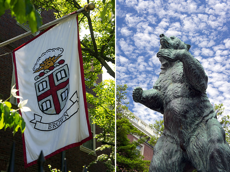 Brown university, Providence, Rhode Island - motto and bear