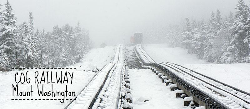 Cograilway Mount Washington, snow on Memorial day