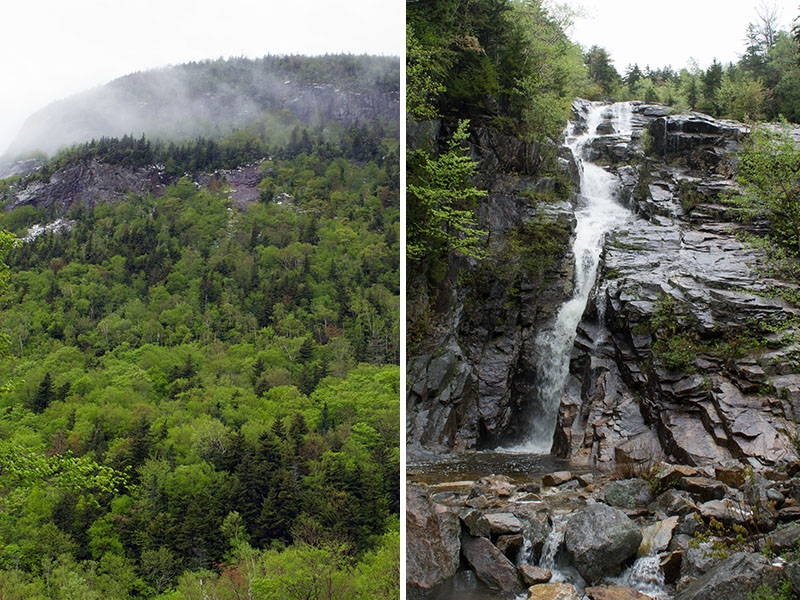 White Mountains and Silver Cascade, New Hampshire