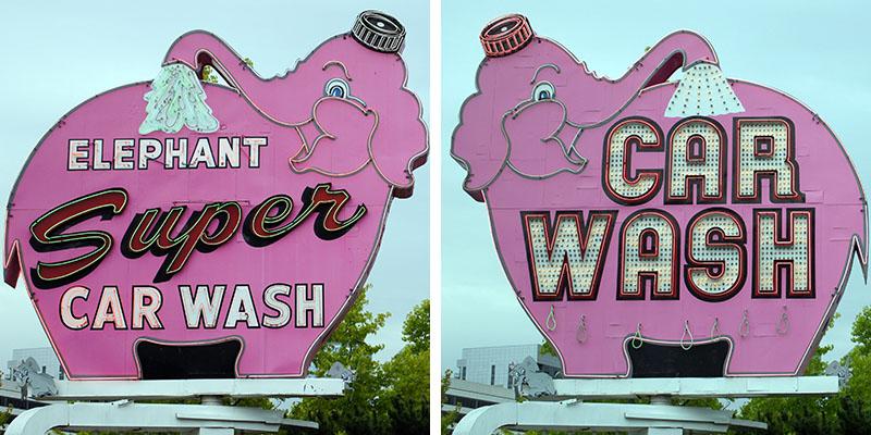 Car Wash - l'éléphant rose à Seattle