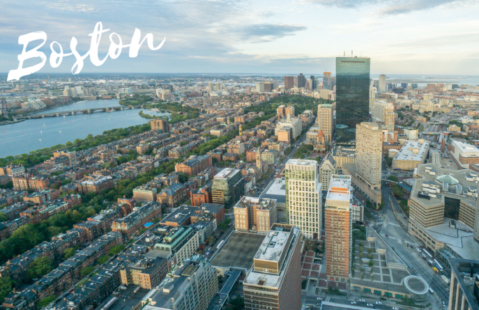 Boston depuis la Prudential Tower