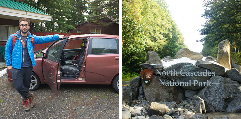 North Cascades entrance and motel