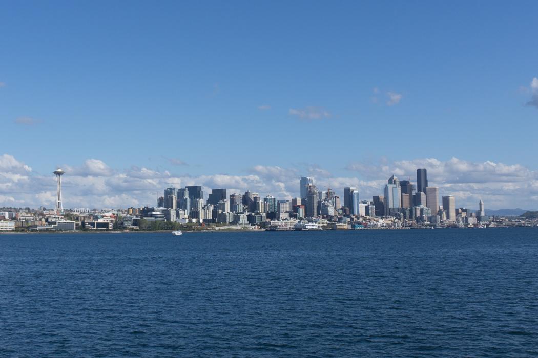 Seattle Washington vue depuis le ferry