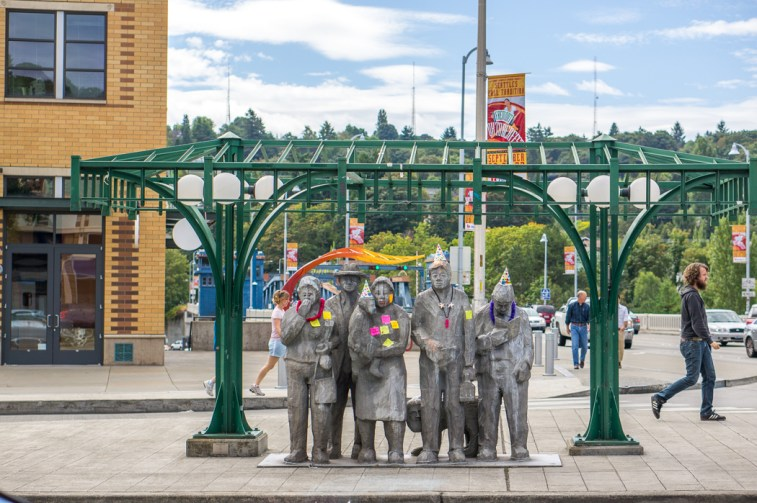 Fremont Seattle ogre people waiting for the bus