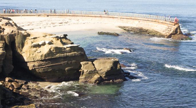 San Diego, en Californie - plage de la Jolla