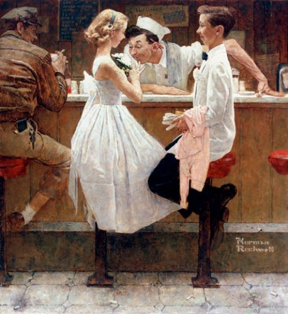 Prom night - Norman Rockwell