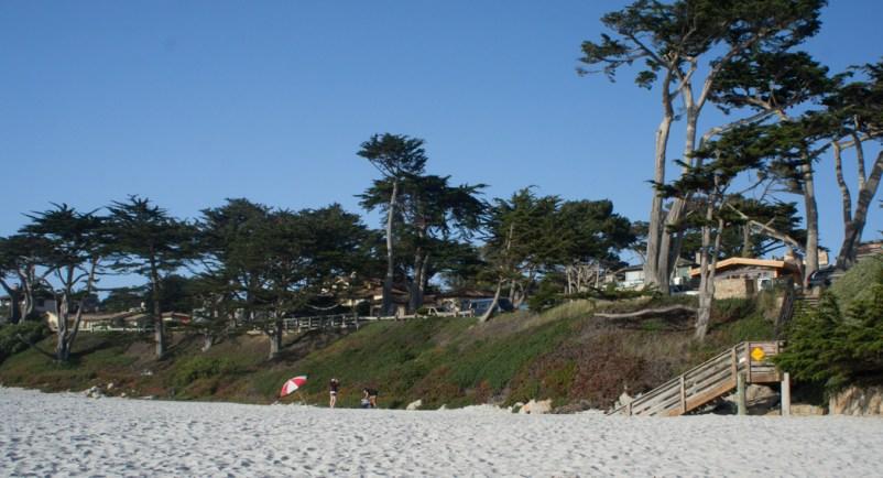 La belle plage de Carmel CAlifornie