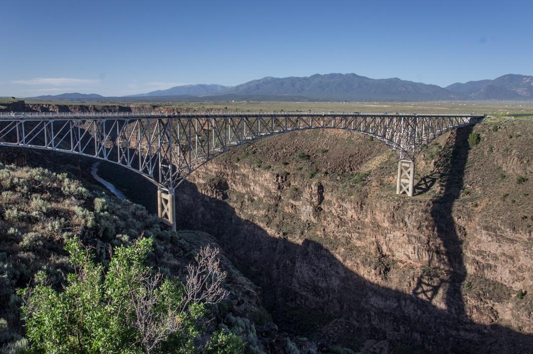 Le Rio Grande au Nouveau Mexique pont