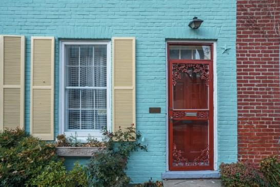 washington-dc maison colorée georgetown